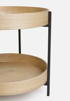 Sixth Floor - Marla tray table - natural & black