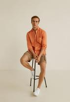 MANGO - Durban shirt - orange