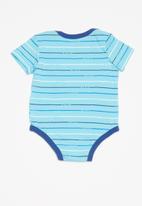 Nike - Stripe 3 pack bodysuit - blue & white