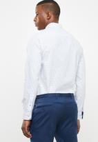 Pringle of Scotland - Hall ward long sleeve styled shirt - white