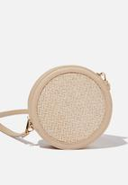 Cotton On - Edie woven circle bag - natural