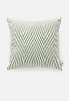 Sixth Floor - Herringbone cushion cover - olive