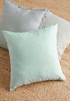 Sixth Floor - Herringbone cushion cover - duck egg