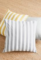 Sixth Floor - Classic stripe cushion cover - grey