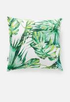Sixth Floor - Tropical cushion cover - green