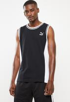 PUMA - Classic sleeveless tee - black & white