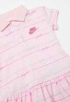 Nike - Stripe polo dress - pink