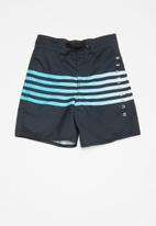 Quiksilver - Point-break boys beach shorts - black & blue
