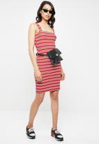 Missguided - Square neck strappy mini dress - multi