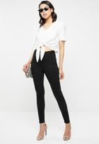 Missguided - Vice high waisted skinny jeans - black