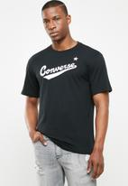 Converse - Center front logo tee - black