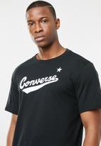 Converse - Center front logo tee - black