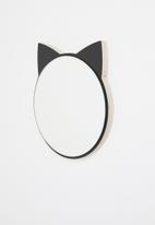 Sixth Floor - Kitty cat mirror - black