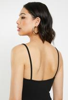 Missguided - Strappy harness cami jumpsuit - black