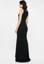 Missguided - Lace up side maxi dress - black