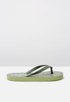 Cotton On - Printed flip flop - green