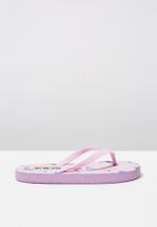 Cotton On - Printed flip flop - pink