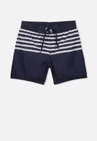 Cotton On - Bailey board shorts - navy & white
