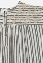 Cotton On - Penny short sleeve dress - grey & cream