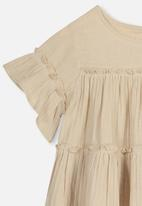 Cotton On - Frida frill top - beige