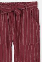 Cotton On - Felicia pant - burgundy & cream