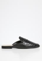 ALDO - Delilmad leather mule - black multi