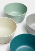 Sixth Floor - Melamine bowl set of 4 - multi blue