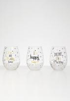 Sixth Floor - Delight glass set of 3 - gold