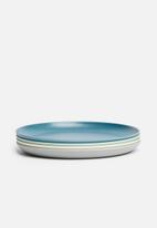 Sixth Floor - Melamine plate set of 4 - multi blue