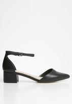ALDO - Zulian leather heel - black