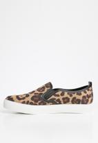 ALDO - Leopard flatform sneaker - brown