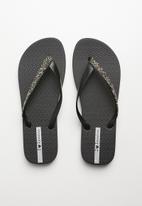 Ipanema - Glam special fem rubber thongs - black