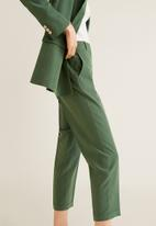 MANGO - Modal suit tapered trousers - green
