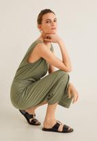 MANGO - Cut-out back jumpsuit - khaki