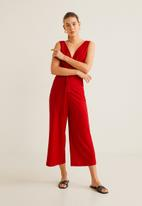 MANGO - Cut-out back jumpsuit - red
