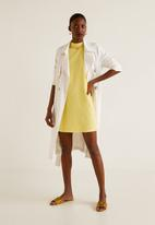 MANGO - High neck shift dress - yellow