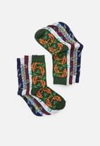 Brave Soul - China socks  5pk - multi