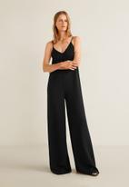 MANGO - Flowy long jumpsuit - black