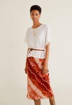 MANGO - Textured knit T-shirt - white