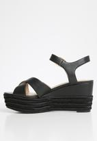 ALDO -  Vilmaclya espadrille wedge heel - black