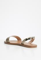 ALDO - Toawen leather sandal - natural multi