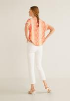 MANGO - Snake print blouse - orange