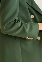 MANGO - Modal-blend suit blazer - green