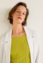 MANGO - Textured unstructured blazer - white