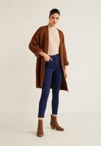 MANGO - Noa high waisted skinny jeans - blue