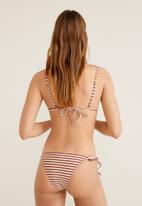 MANGO - Striped bikini top - rust & white