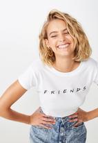 Cotton On - Essential friends T-shirt - white