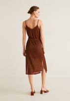MANGO - Textured midi dress - rust