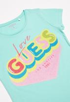 GUESS - Teens short sleeve love guess tee - blue