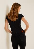 MANGO - Essential short sleeve tee - black